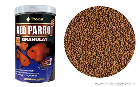 Ração Tropical Red Parrot Granulat 100g