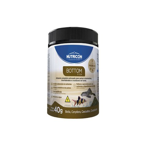 Ração Nutricon Bottom Fish 40g