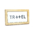 Azulejo decorativo com frase Travel