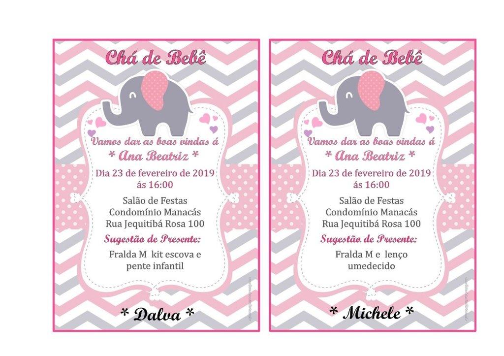 Convite Virtual Personalizado Chá De Bebê Aniversário Batizado