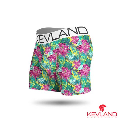 Cueca Boxer Kevland Light Flowers