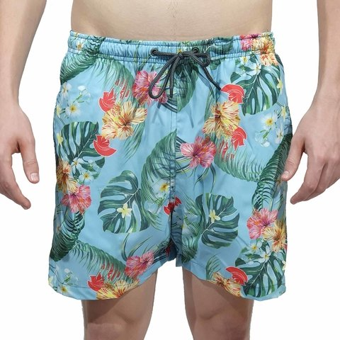 Short Kevland Floral Blue