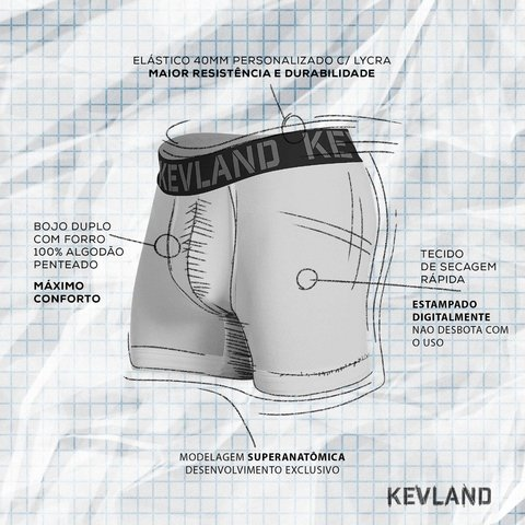 Imagem do Cueca Boxer Kevland Comic Faces