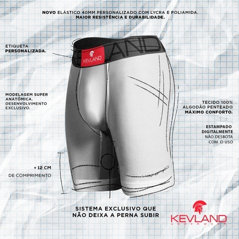 Cueca Boxer Long Leg Kevland Hungry Eyes