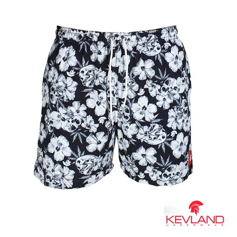 Short Kevland Floral Dark