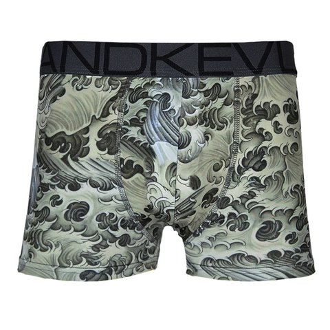 Cueca Boxer Kevland Black Waves II
