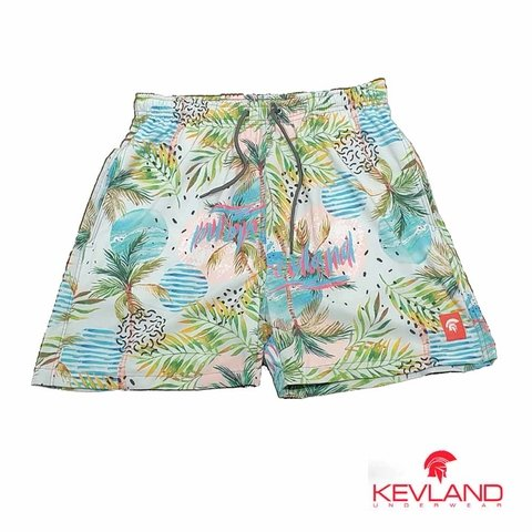 Short Kevland Palm Trees Blue