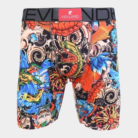 Cueca Boxer Long Leg Kevland Real Tattoo