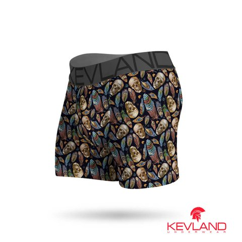 Cueca Boxer Kevland Skull and Feather