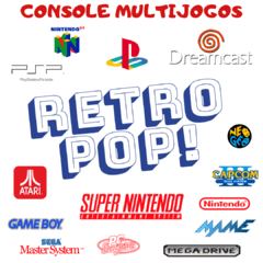 CONSOLE MULTIJOGOS RETRO POP