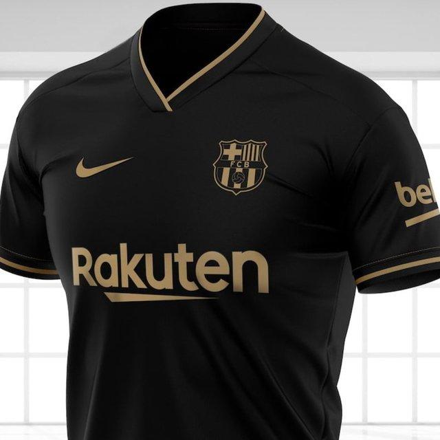 Camisa Preta Do Barcelona Away A Partir De 139 90 Frete Gratis