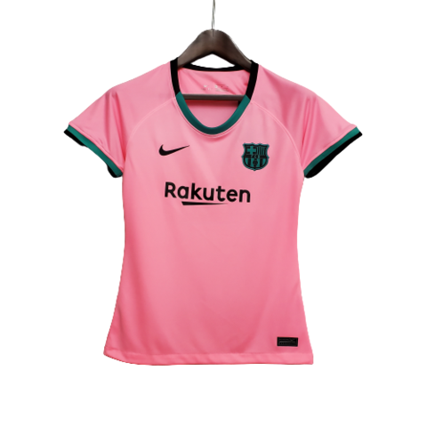 Camisa Barcelona Third 20 21 Torcedor Nike Feminina Rosa