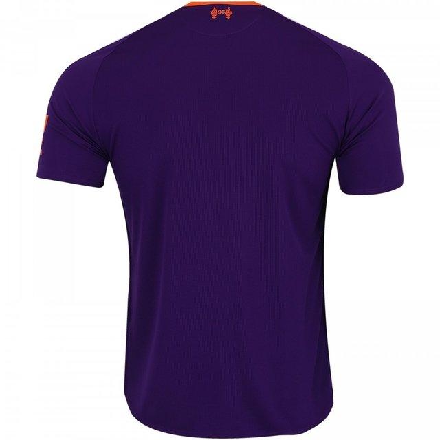 Camisa Liverpool Away 18 19 Torcedor New Balance Masculina Roxo