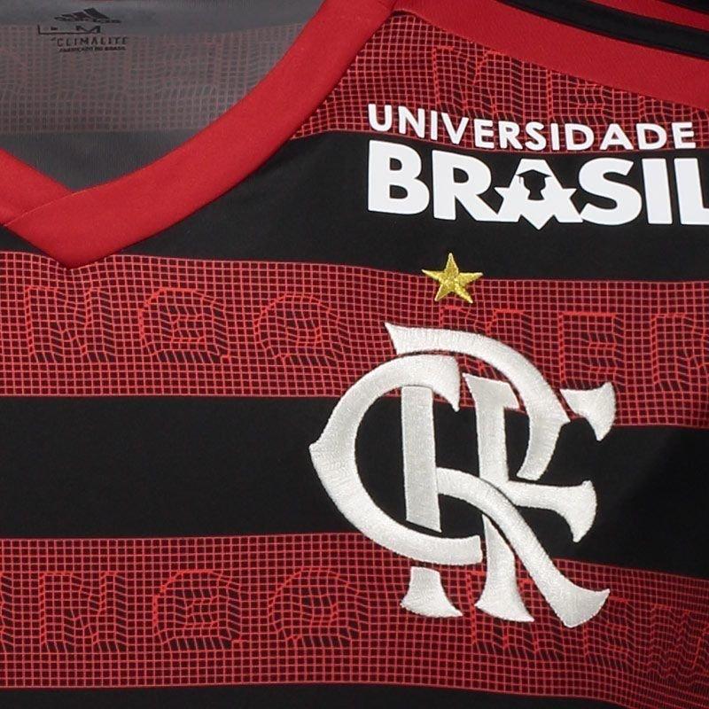 3e258a2c70 Camisa Flamengo I 2019 Todos Patrocínios - Torcedor Masculina - Vermelho e  Preto. 44% OFF. Novo. 1