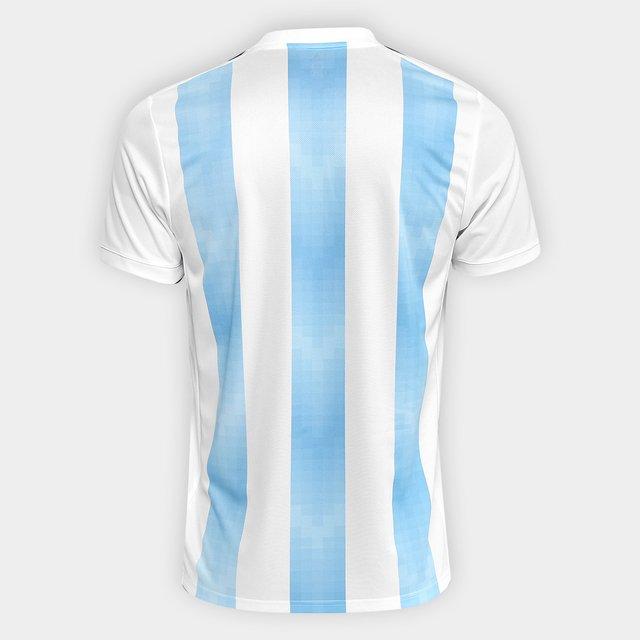Início > Seleções > Seleções da América > Argentina > Camisa Seleção  Argentina Home 2018 Torcedor Masculina - Branco e Azul Claro Camisa Seleção