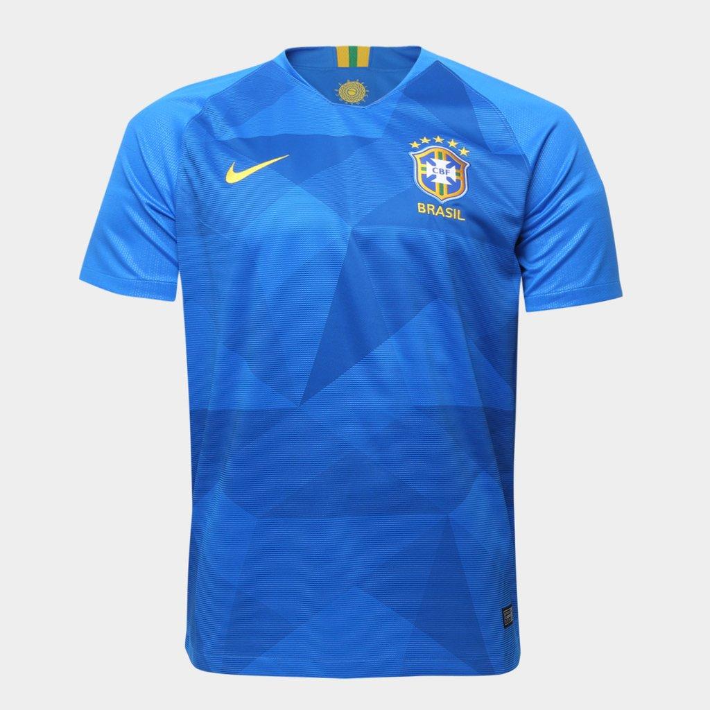 07ba05e44a Camisa Seleção Brasil II 2018 - Torcedor Masculina - Azul
