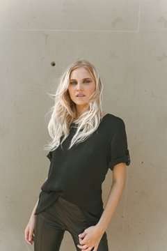 Blusa con Sardineta ALICIA - TOTAL BLACK