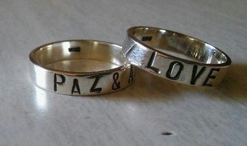 017b145ce4de Anillo Plata Con Nombre O Frase Grabado