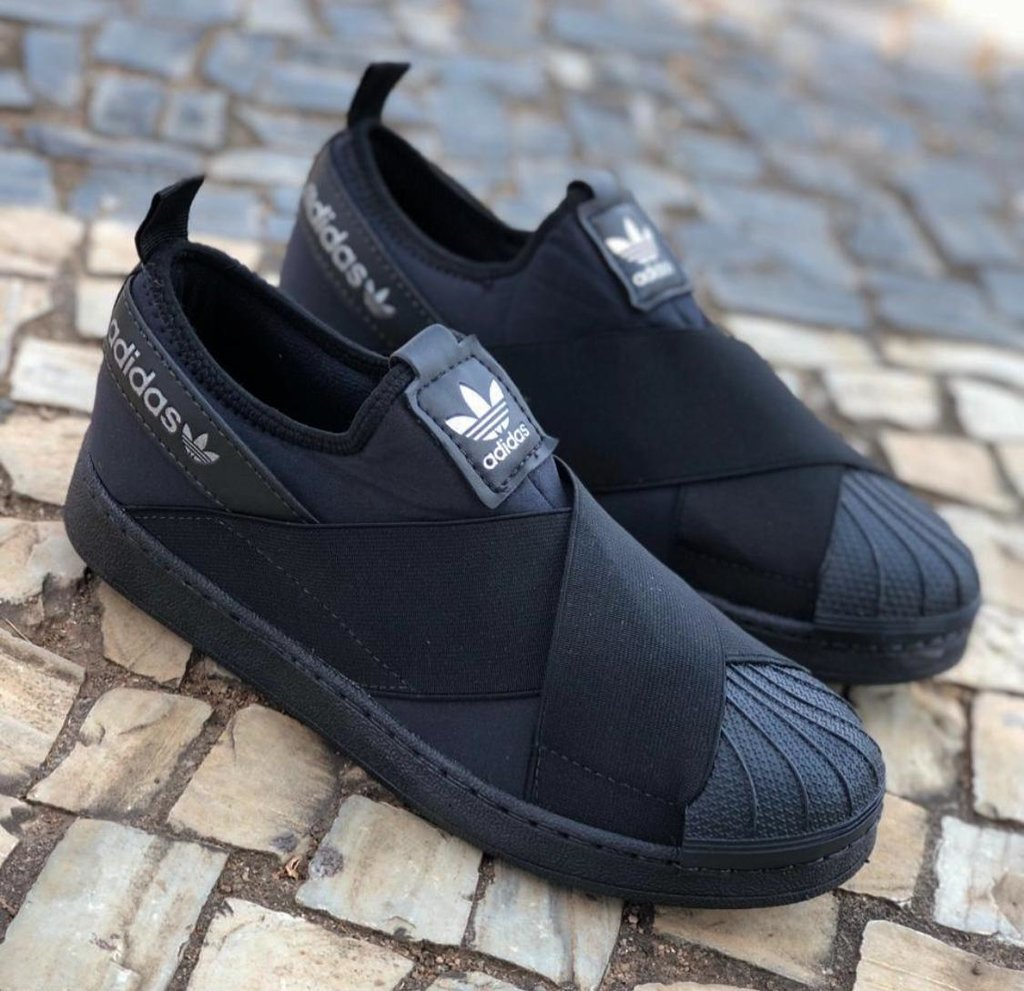 sneakers for cheap 4b73e 26b7f Tênis Adidas Superstar Slip On All Black