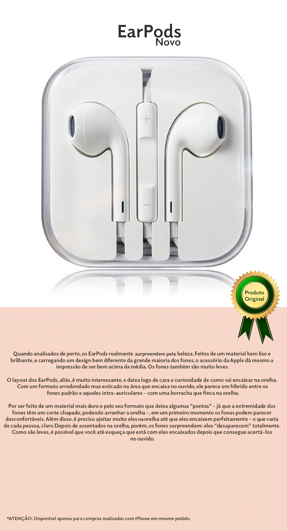 EarPods Apple Original Lightning