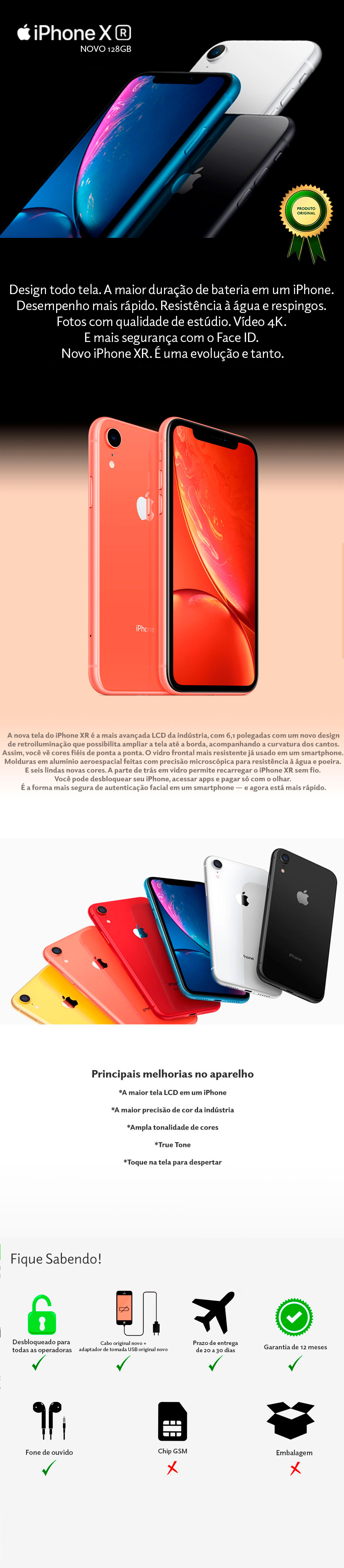 iPhone XR 128GB Novo