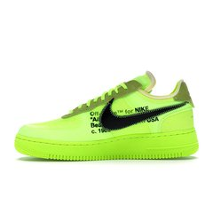 TÊNIS NIKE AIR FORCE 1 OFF-WHITE VOLT na internet
