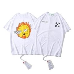 "Camiseta Off White - Bart ""Who the Hell are You"" - comprar online"