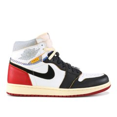 TÊNIS UNION X AIR JORDAN 1 RETRO HIGH OG NRG BLANCHE/ROUGE-GRISE-NOIR