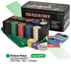 Set De Poker Old Player Caja Metalica 200 Fichas