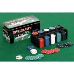 Set De Poker Old Player Caja Metalica 200 Fichas - comprar online