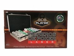 Poker Fichero Old Player 300 Fichas Laser Numeradas C/cartas