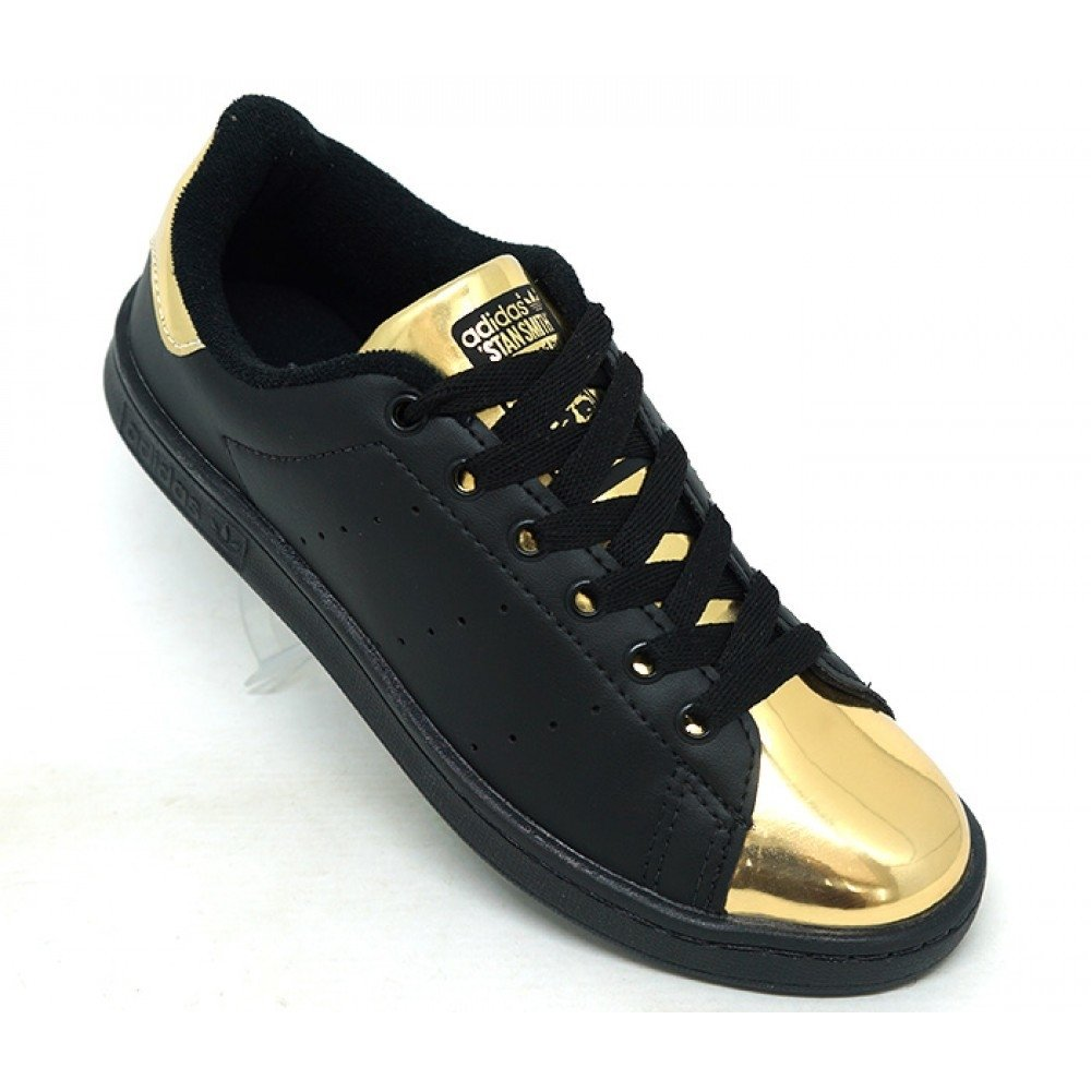 4e2cf69be68 ... adidas stan smith branco e dourado