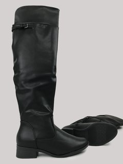 Bota Over The Knee Preta Piccadilly 650058 na internet