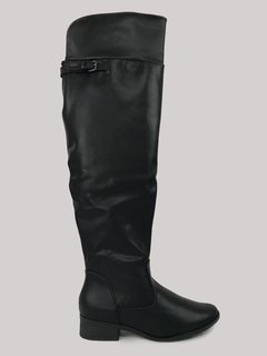 Bota Over The Knee Preta Piccadilly 650058
