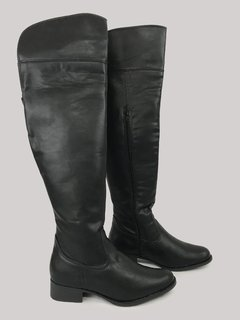 Bota Over The Knee Preta Piccadilly 650058 - comprar online