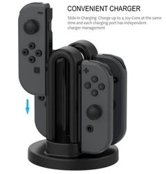 Nintendo Switch Dock Cargador Carga 4 Joy Con en internet