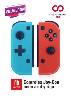Nintendo Switch Joy Con Joystick Azul Y Rojo Alternativo - comprar online