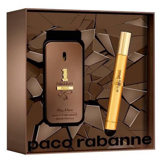 6b4e586c1e Kit One Million Prive 50 ml Eau de Parfum + travel spray 10 ml masculino.  0% OFF. 1