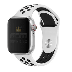 Pulseira Nike Sport Apple Watch Platina e Preto  38mm 42mm 40mm 44mm