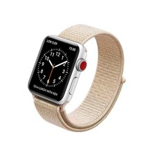 Pulseira Rosa Vintage Nylon Loop Apple Watch 38mm 40mm 42mm 44mm