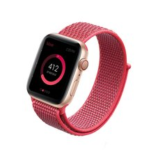Pulseira Rosa Hibisco Nylon Loop Apple Watch 38mm 40mm 42mm 44mm