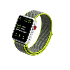 Pulseira Verde-Volt Nylon Loop Apple Watch 38mm 40mm 42mm 44mm