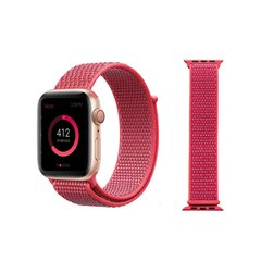 Pulseira Rosa Hibisco Nylon Loop Apple Watch 38mm 40mm 42mm 44mm - comprar online