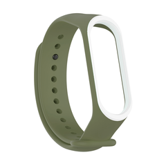Pulseira MI Band 3 e 4 Silicone Color Fit Verde musgo contorno na borda