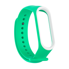 Pulseira MI Band 3 e 4 Silicone Color Fit Verde água contorno na borda