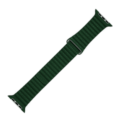 Pulseira Verde Escuro Couro Loop Para Apple Watch 38mm 40mm 42mm 44mm na internet