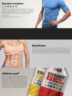 PACK ENARGY GEL BY ENA - 12 UNIDADES DE IGUAL SABOR en internet