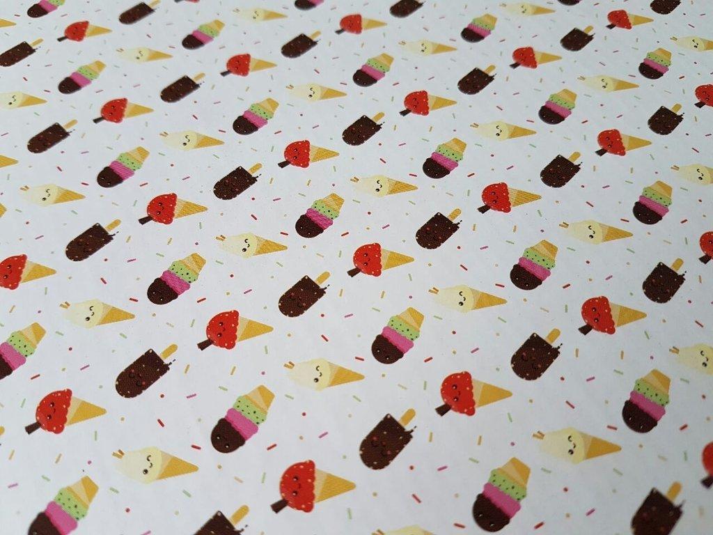 8bd1a196e494 Bandejas de cartón, fondo ocre y heladitos de color, con diseño para  tortas, 32 cm diametro, bordes ondeados
