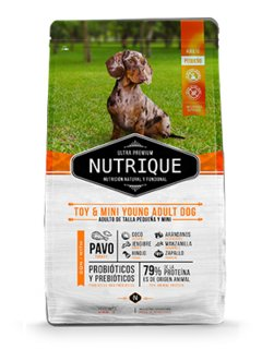 Nutrique toy y mini young adult dog x 3kg