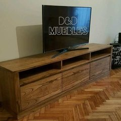 Rack Tv De Paraiso 160 X 035 X 060 D&d Muebles